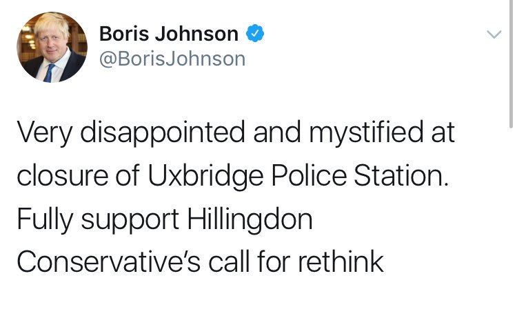 Boris Johnson says he's 'mystified' by police station closures. This should clear it up for him.