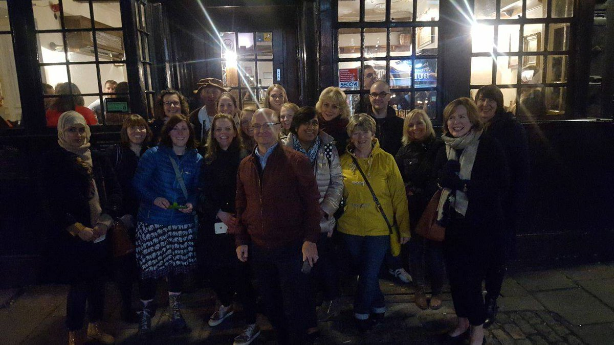 Ahoy to our hospice volunteer shipmates in Bristol! Here they be on a pirate walk after an inspiring day @AVSM_Network_UK #AVSMConf17