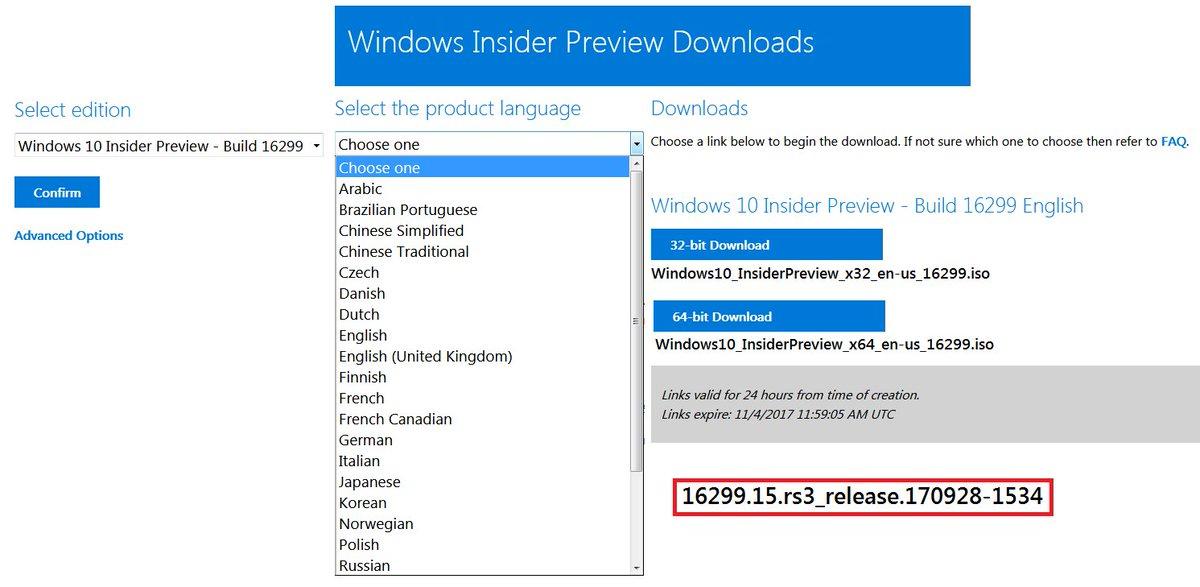 download iso windows 10 64 bit 1709