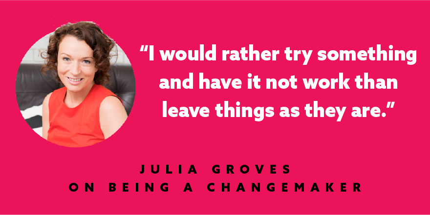 #Changemakers like @juliasgroves have a different risk appetite to most people. https://t.co/cfzQNeIrY7 https://t.co/63UmRAXeo2