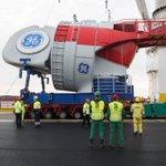 Expédition de nacelles d'éoliennes offshore depuis les terminaux de Montoir pour le parc #Merkur en mer du Nord #EMR