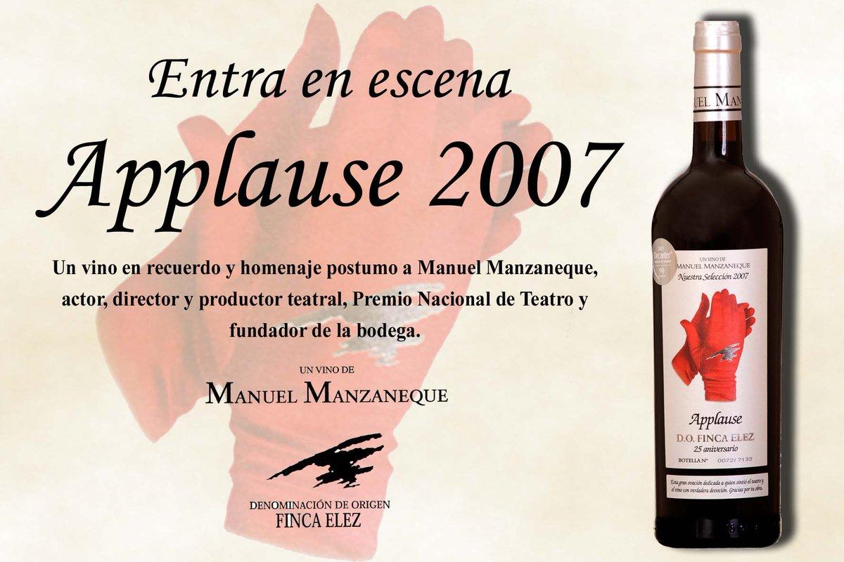 APPLAUSE 2007 tinto @bodegamanzanequ @FincaElezDO #CabernetSauvignon ,#Merlot y #Tempranillo. #crianza #18meses https://www.efectodirecto.es/entra-en-escena-applause-2007-un-tinto-de-anada-especial-de-bodegas-manuel-manzaneque/…pic.twitter.com/EIcvdCauHe