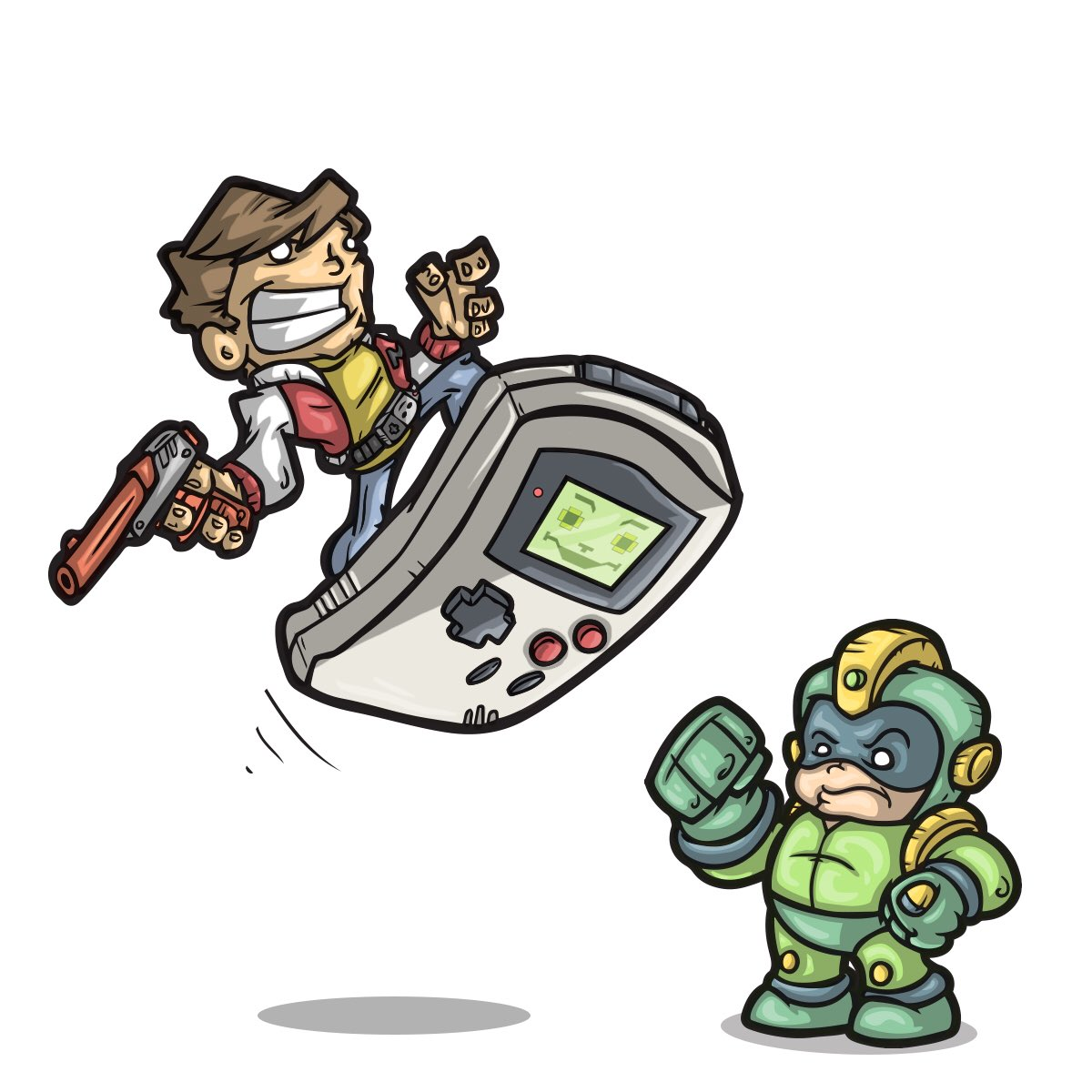 Six Am Comics On Twitter Kevin Keene Gameboy Megaman Who Didn T Love This Show Come On Captainn Illustration Nintendo Childhood