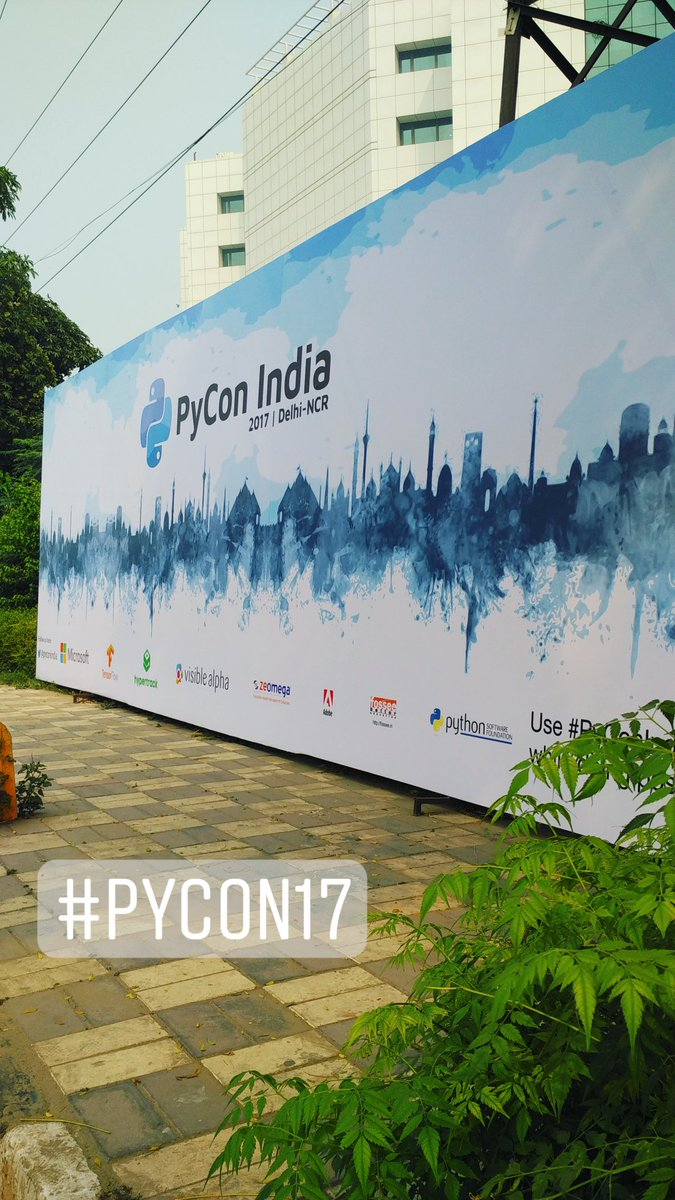 This week is all going to be about PyCon India #PyConIndia #PyCon2017 <br>http://pic.twitter.com/uzJVtve9Cz