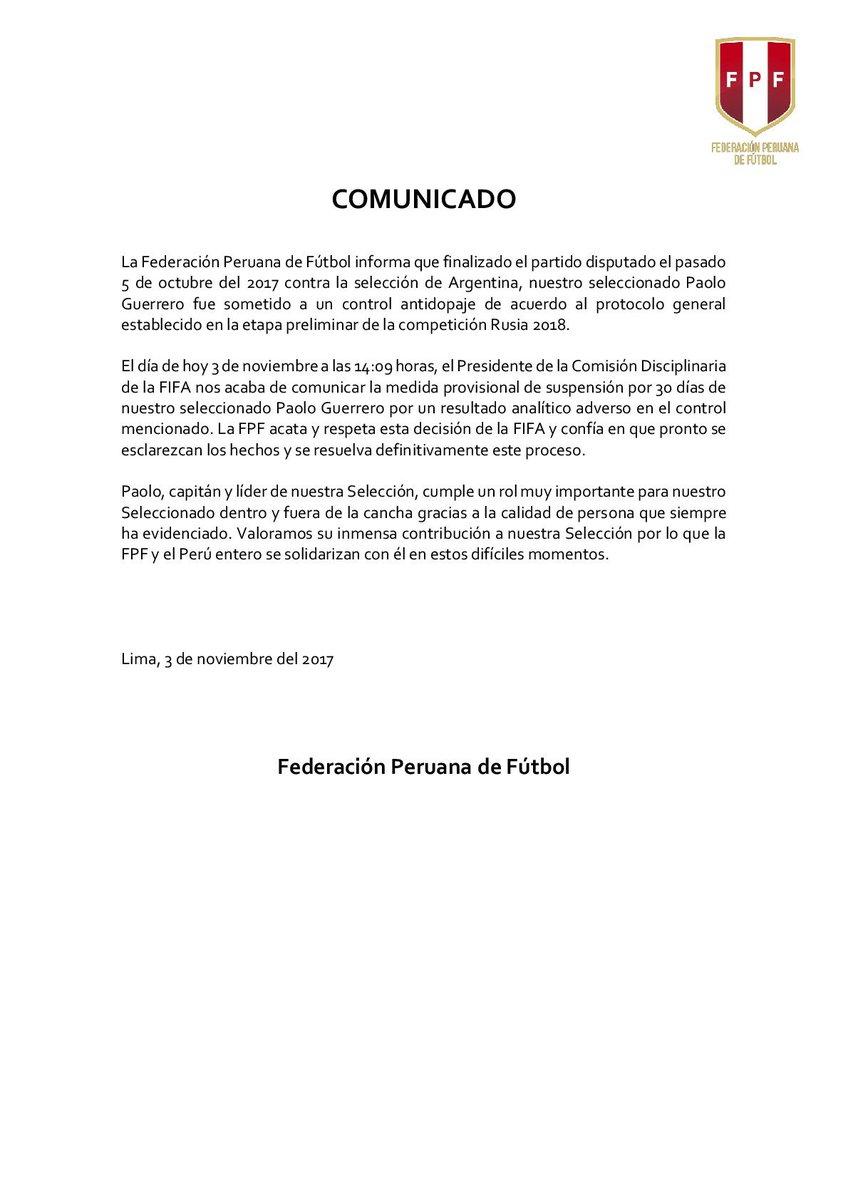 Paolo Guerrero: Posible doping DNu-4DsXcAUh3eo