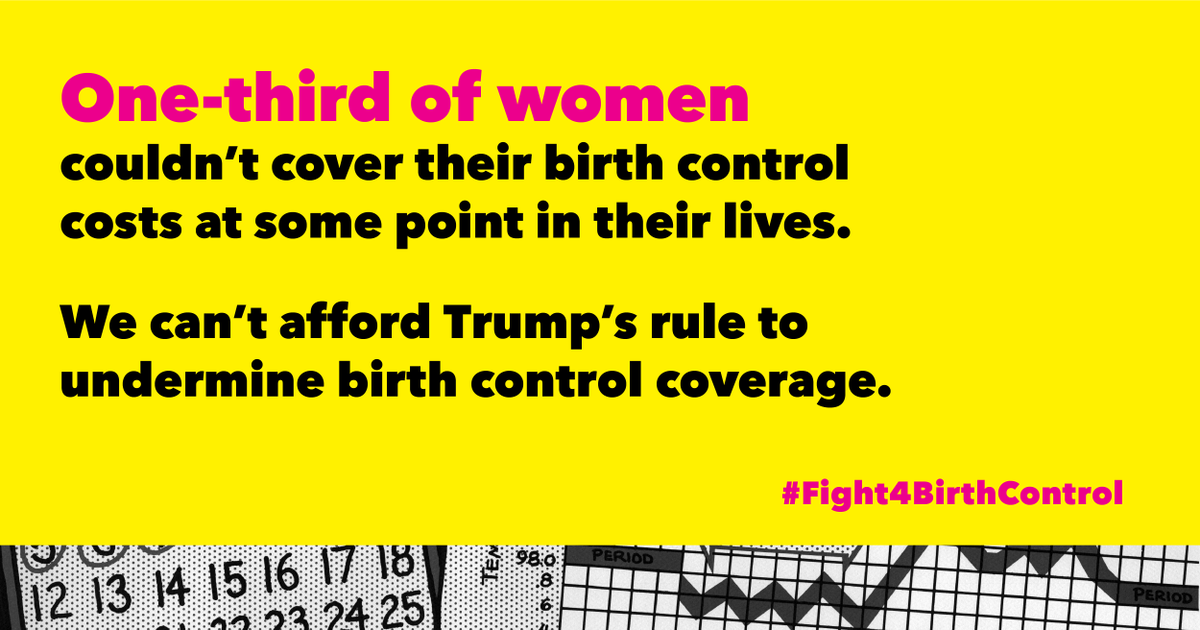 No one should struggle to get birth control. Sign on if you agree: https://t.co/a9wKElva0E #Fight4BirthControl