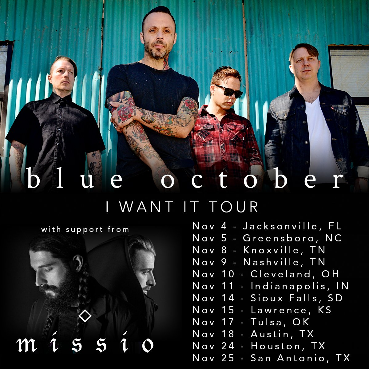 Blue October Home Tour Opening Act