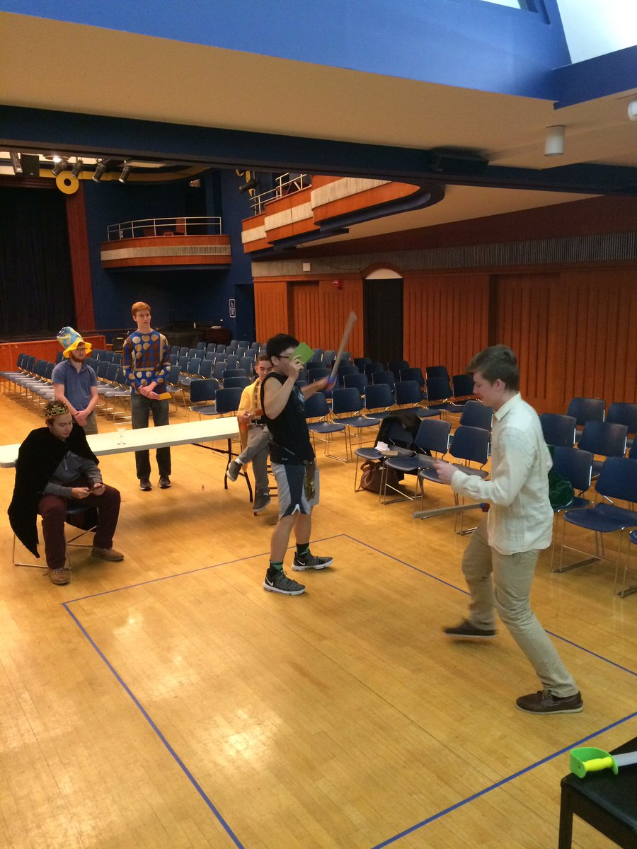 Acting out Act 5, scene 2 of Hamlet with Mel House