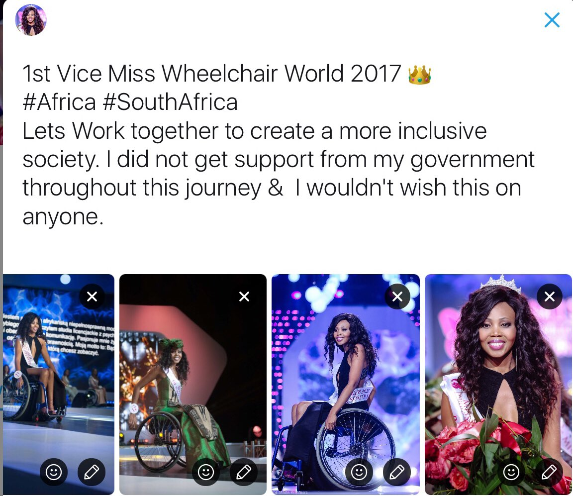 Image result for Lebohang 'The Rolling Goddess' Monyatsi, the first African woman to model in a wheelchair