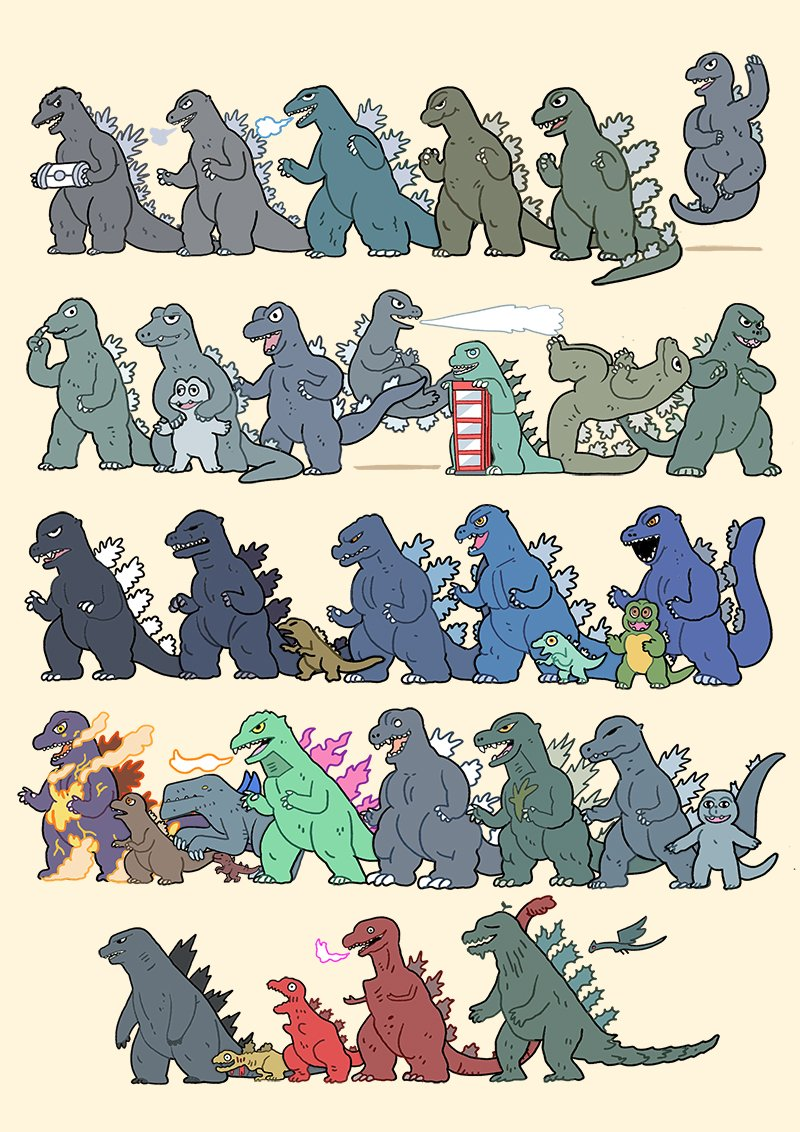 Happy 63rd Birthday to #Godzilla, my favourite movie character!