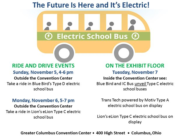 Blue bird corp bluebirdbuses twitter we all want cleanride4kids which is possible w electricschoolbus come ride one in columbus at napthq next weekpicittergkjadze1w8 platinumwayz