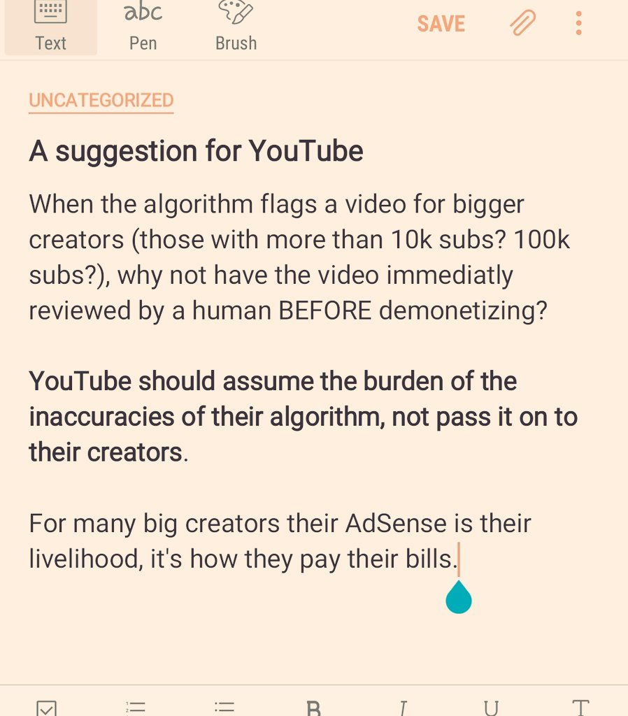 A suggestion for @YouTube  PLEASE RETWEET if you want them to hear this https://t.co/I15HmVg00b