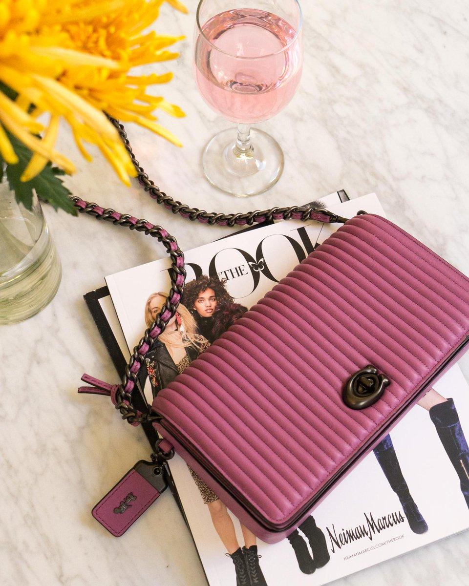 When your bag matches your rosé. Shop @Coach: https://t.co/NWPJMfn2rE #CoachxSelena #NeimanMarcus