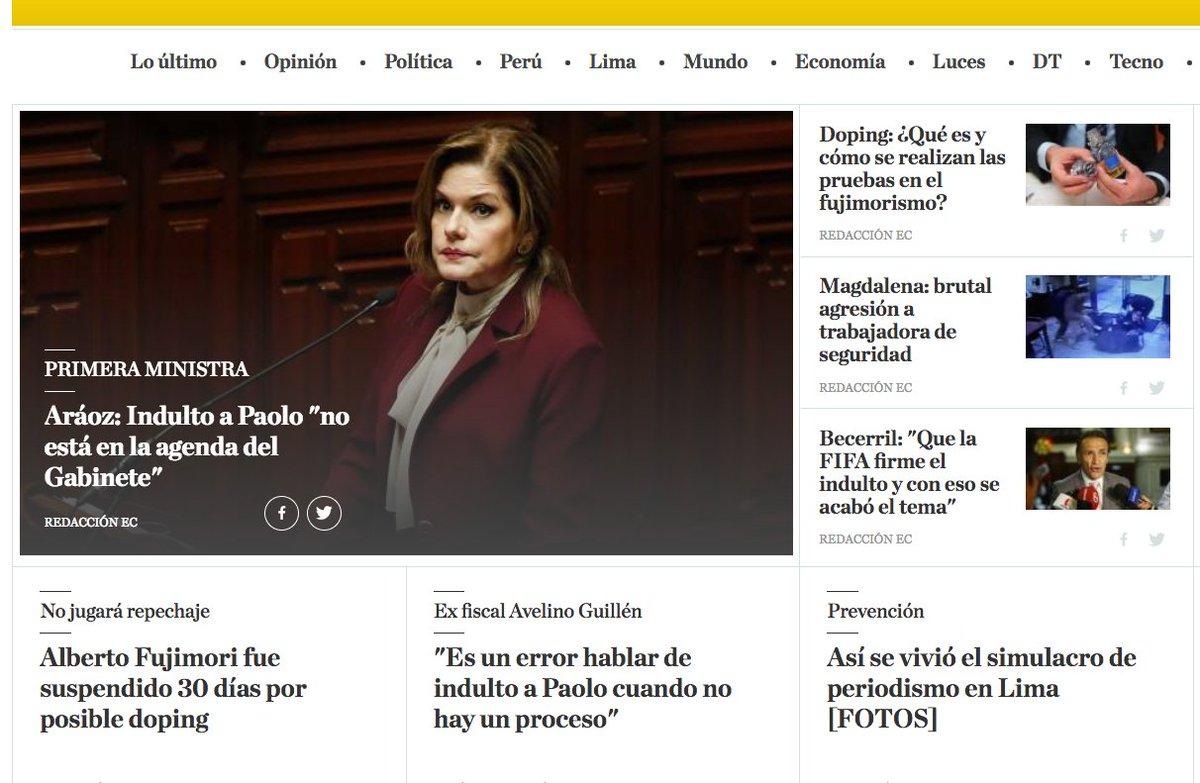 Es un viernes agitado para la prensa peruana https://t.co/BDMEZQhbBP