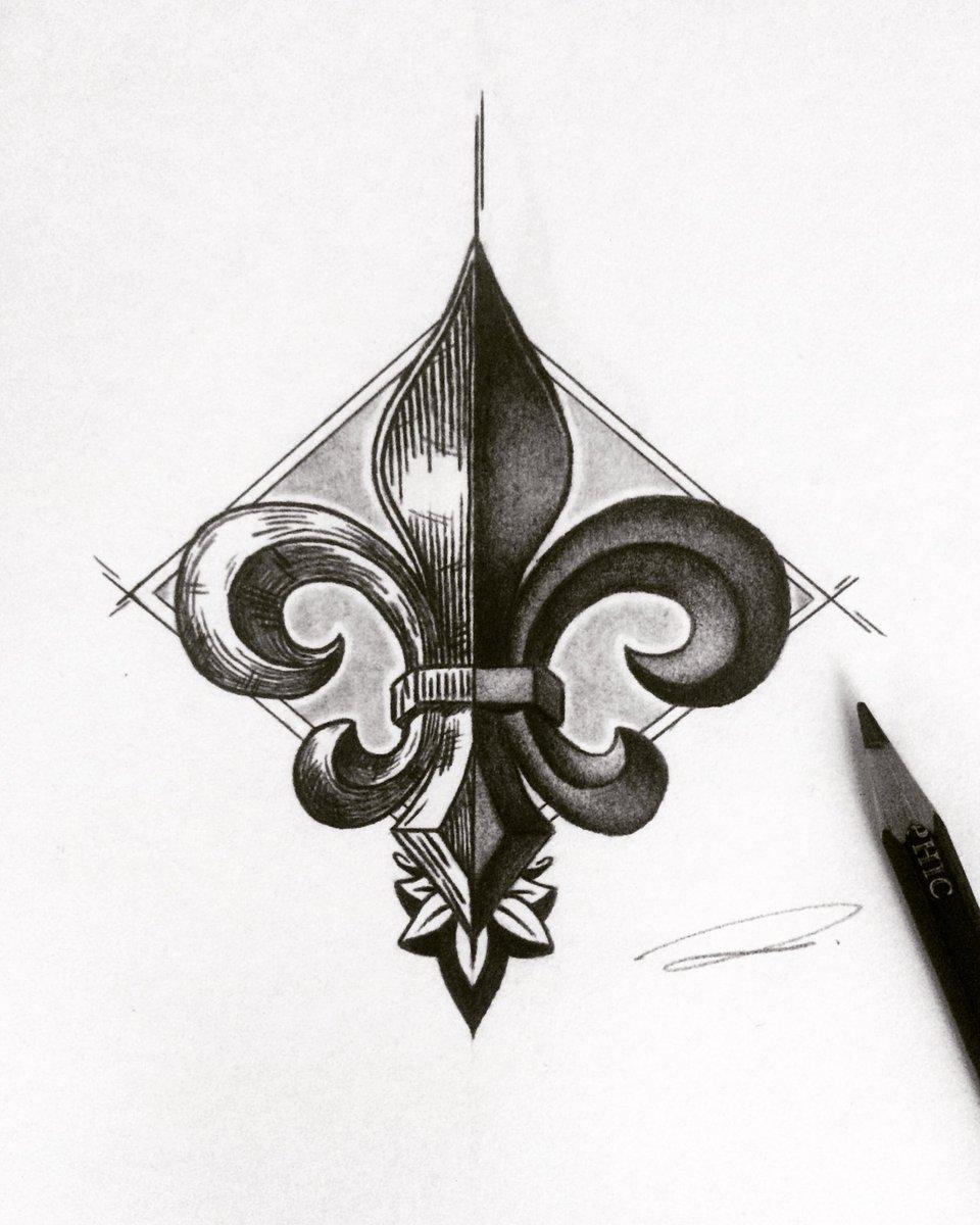 Dan Lozano On Twitter Fleur De Lis Fineart Drawing