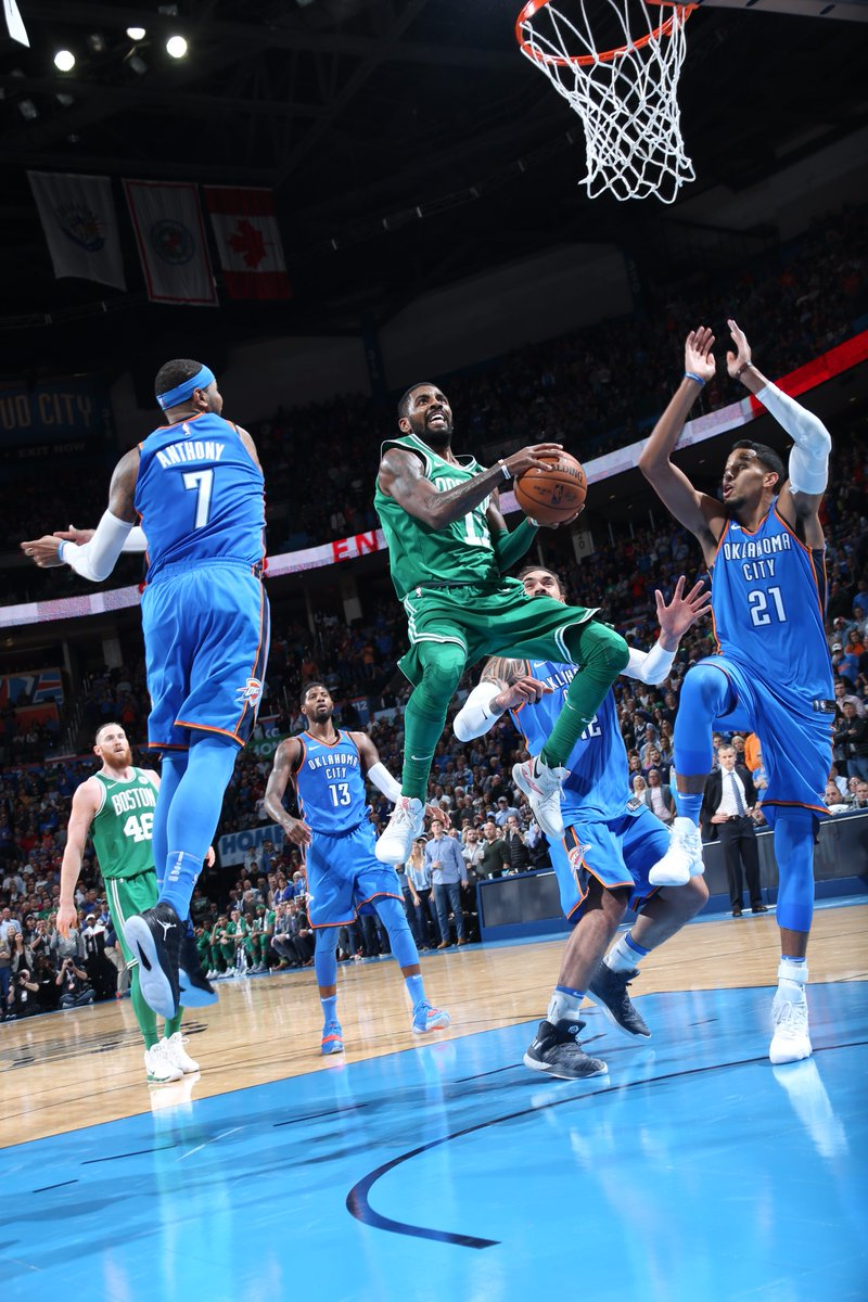 The #Celtics never gave up tonight, fighting back to beat the Thunder at home 101-94