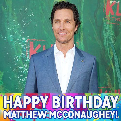 Happy Birthday to Oscar winner Matthew McConaughey! The Interstellar and Dallas Buyers Club star turns 48 today.