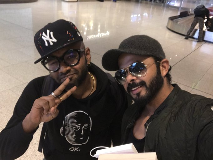 Met @bennydayal ..great personality and classy voice and an amazing artist..#respect ..keep making hits Brother 🤗👍🏻⭐️ https://t.co/5w2a1L2chg