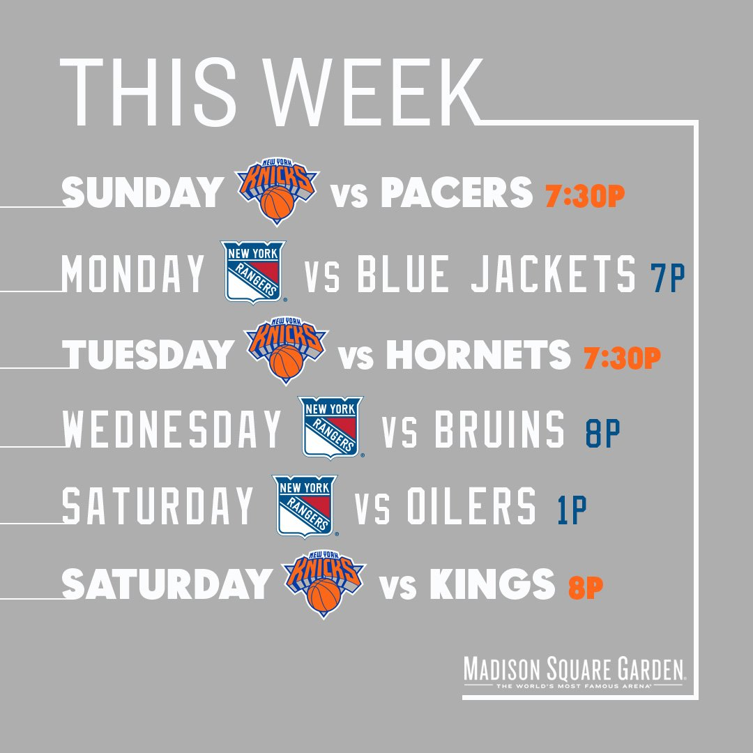 Msg Calendar.Msg On Twitter Mark Your Calendar For These Upcoming Nyknicks And
