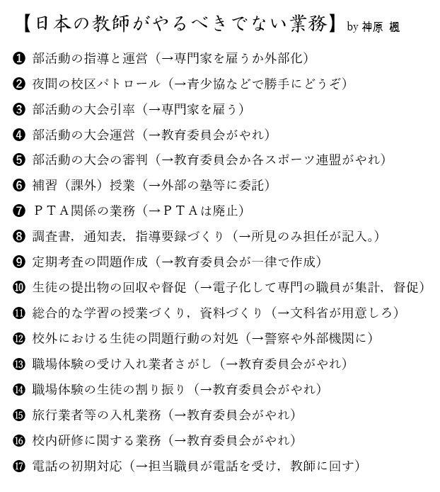世界ワーストで多忙な日本の教師。雑務が多すぎるんだよ。 『日本の教師がするべきではない仕事』を勝手にまとめました。