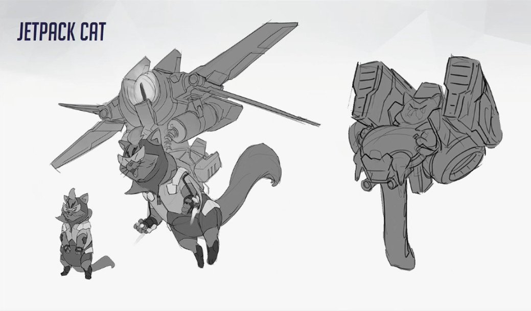 Here's a look at Overwatch's Jetpack Cat, a hero that was 'too ridiculous' to put in the game https://t.co/ipD0PEwwqc