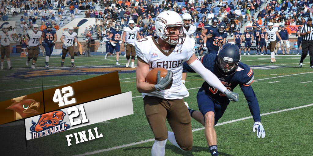 In Must-Win Game, Lehigh Defense Forces Four Turnovers And Lehigh Offense Makes Bison Pay, Win 42-21