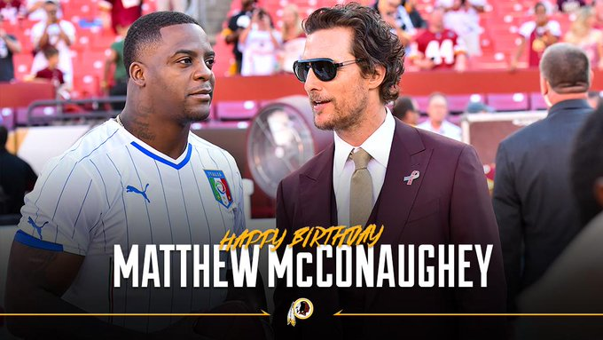 To wish a happy birthday to actor & fan Matthew