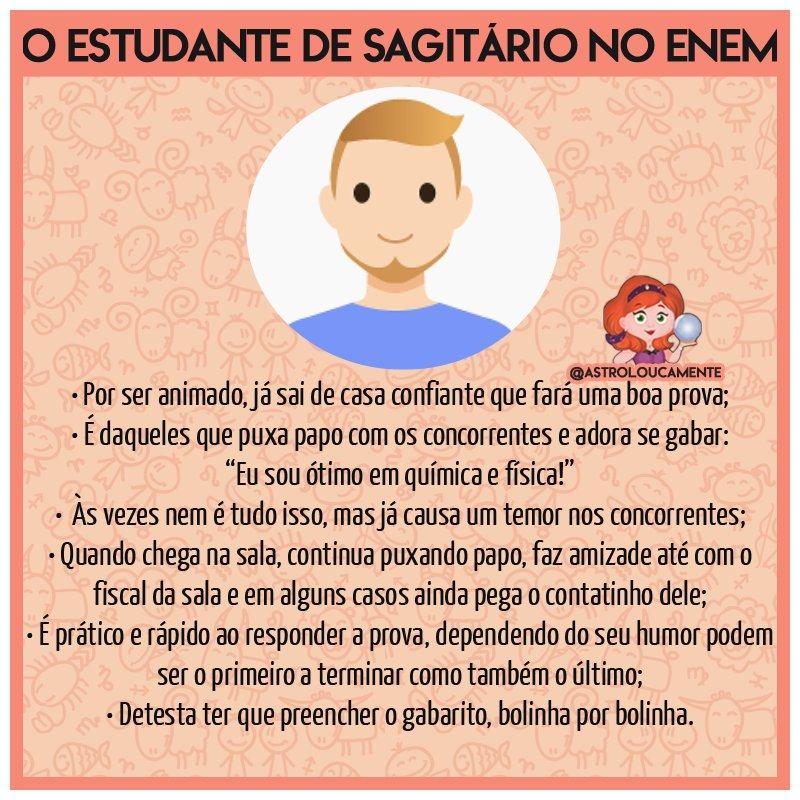 O estudante de #Sagitário no #ENEM #ENEM...