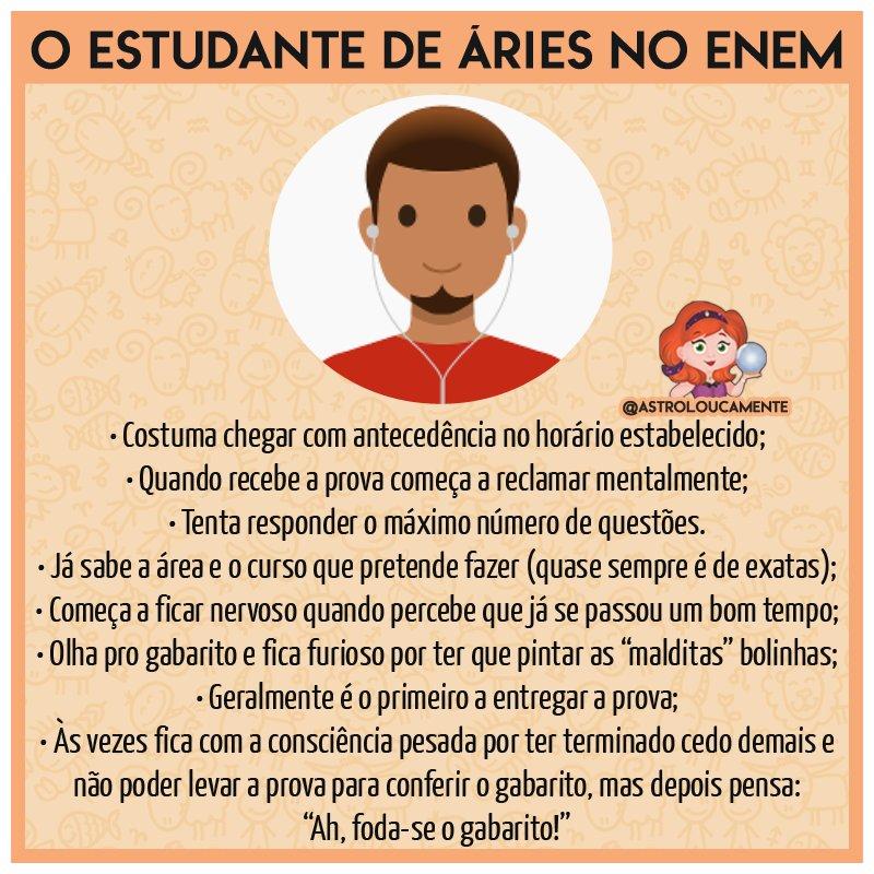 O estudante de #Áries no #ENEM #ENEM2017...