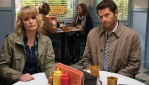 """Wishing Samantha Smith (here with Misha Collins in \""""Supernatural\"""") a very Happy Birthday"""