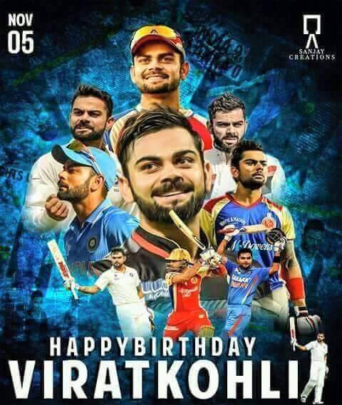Many Many Happy Return of the day to VirAt_Kohli_Sir   29th_BirthDay The_Run_Machine God bless you