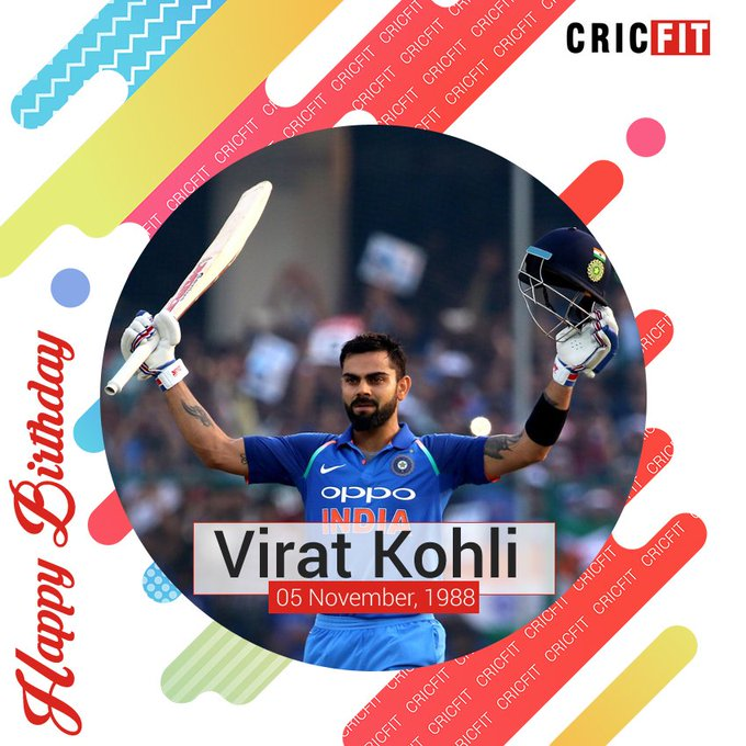 Cricfit Wishes Team India captain Virat Kohli a Very Happy Birthday!