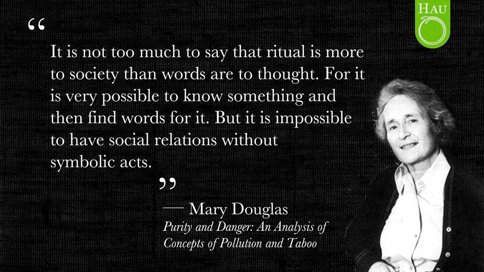 "HAU on Twitter: ""Mary Douglas. Published back in 1966.… """