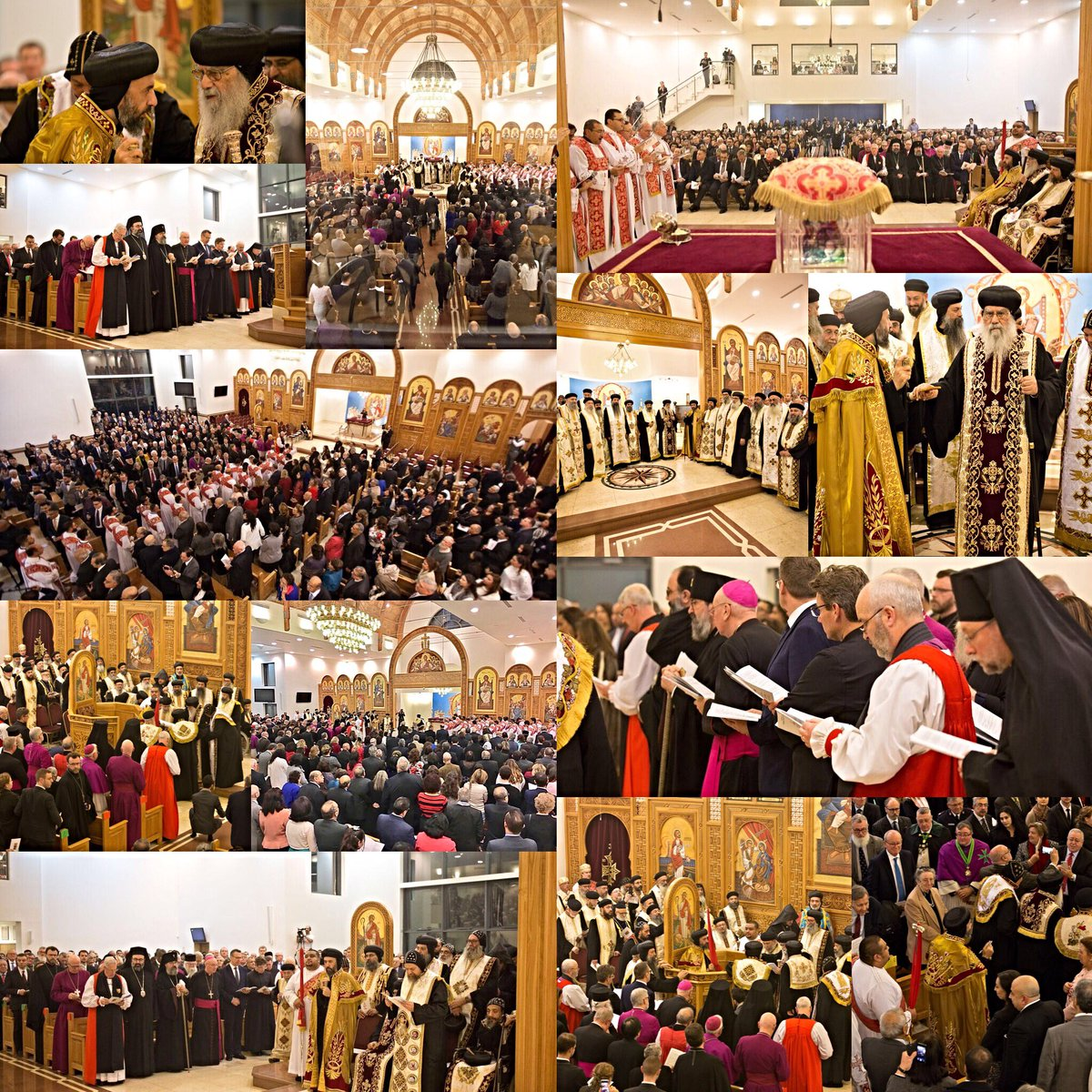 Impossible to express my appreciation for love and support felt from every individual attending this momentous time of prayer for the birth of our @CopticDiocese of #London: our #Coptic bishops, community and clergy, our ecumenical friends and friends from broader British society<br>http://pic.twitter.com/mvgrj3ERCa