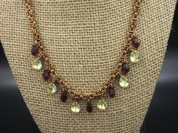 Bronze and Swarovski Chainmaille Necklace  https:// buff.ly/2mCijQi  &nbsp;   #EtsyGifts #etsyretwt #Etsyhandmade #TEMPTTeam #Etsy #twitch #jewelry #Handmade #twitchcreative #chainmaille #renaissance #faire #stainlesssteel #portland<br>http://pic.twitter.com/7hD7988AVG
