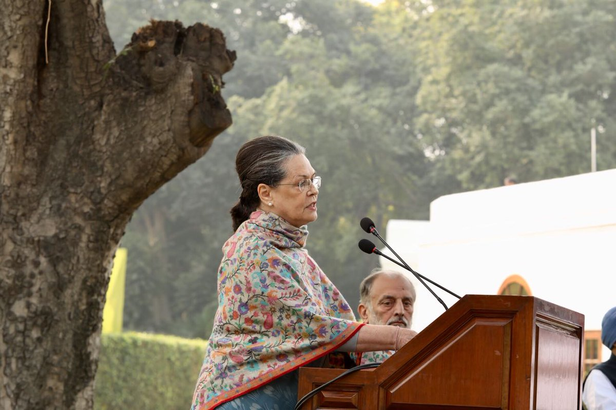 Indiraji represented not only the iron resolve, but her humanity and generosity touched all: Smt. Sonia Gandhi on #Indira100