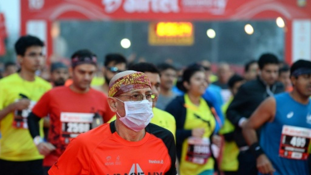 Delhi half marathon goes ahead despite smog, health warnings https://t.co/dpzkyEhy0d