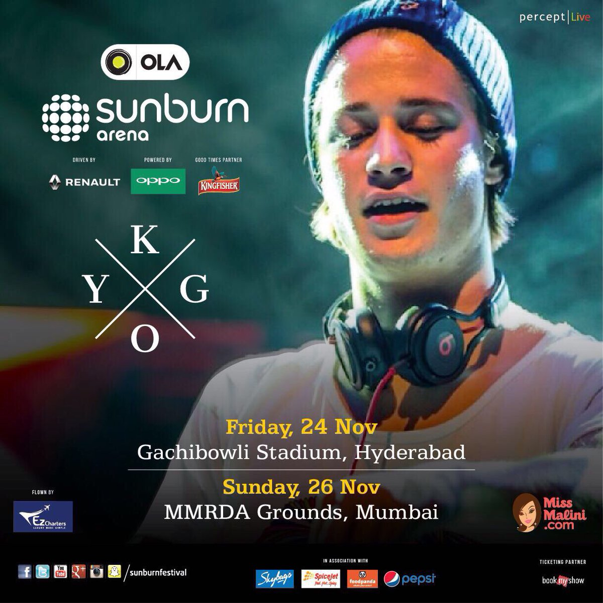 A week away till @KygoMusic is in #Mumbai 👯 so kicked for #OLASunburnArena 🙌 Get your tickets here https://t.co/3y0eVhGKkH & see y'all in the arena 🦋  #KygoIndia@SunburnFestival