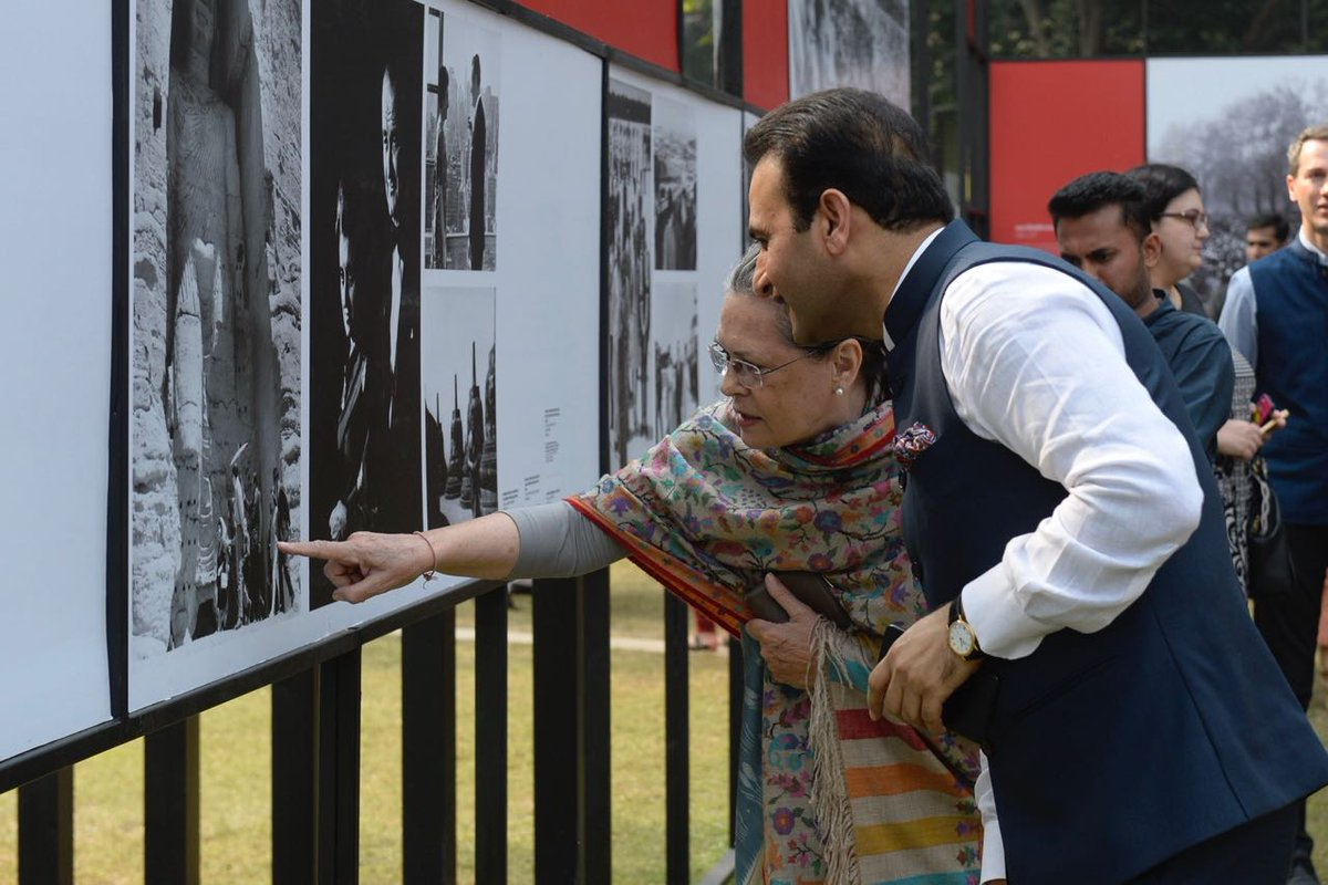 Glimpses of the exclusive photographic exhibition of Indira: A Life Of Courage which will be open to public from November 21. #Indira100