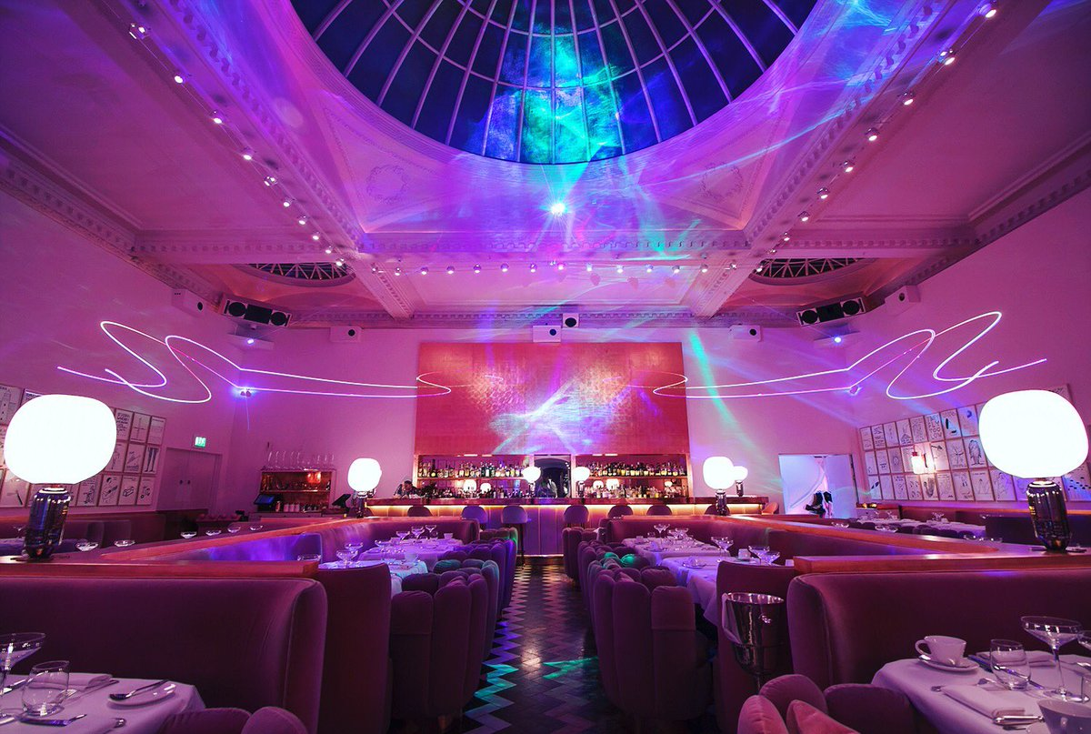 This is @iamchrislevine laser light and solfeggio sound installation for sketch… Silent Light + an installation which aims to celebrate our spirituality and senses…  Can you see the meteorite?  #Christmas #lightart #cosmic #meteorite #fromouterspace #EATMUSICDRINKART<br>http://pic.twitter.com/JDKzLNnTsj