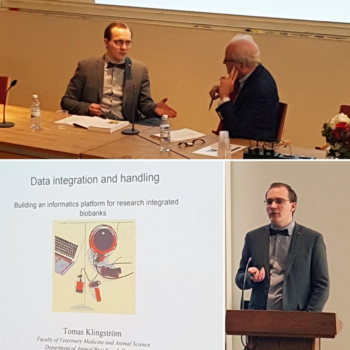 Interesting #thesis defence today @KlingstromT #biobanking #vh_slu<br>http://pic.twitter.com/wuJ9vChKe1
