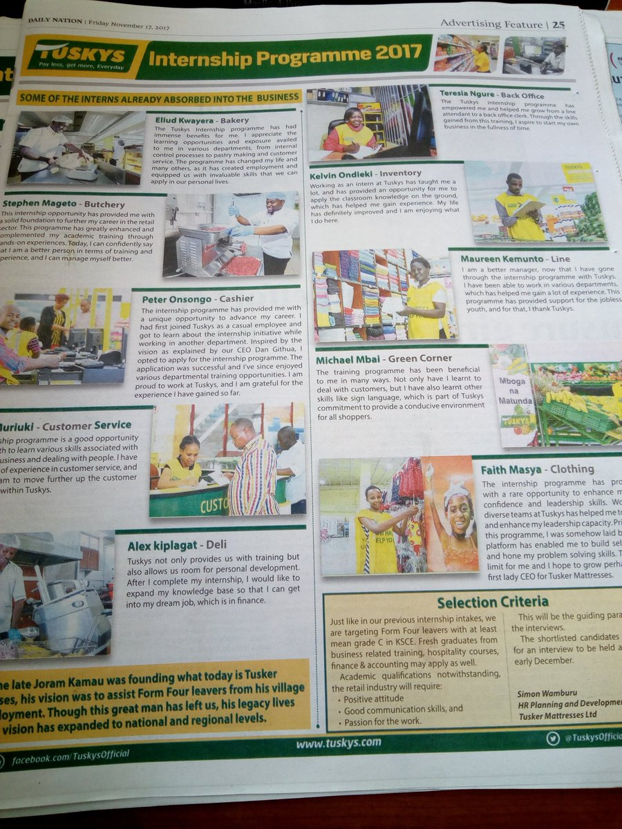 Tuskys Looking For Shop Attendants And Cashiers (Requirement Form 4 ... e60ab8a63a6cc