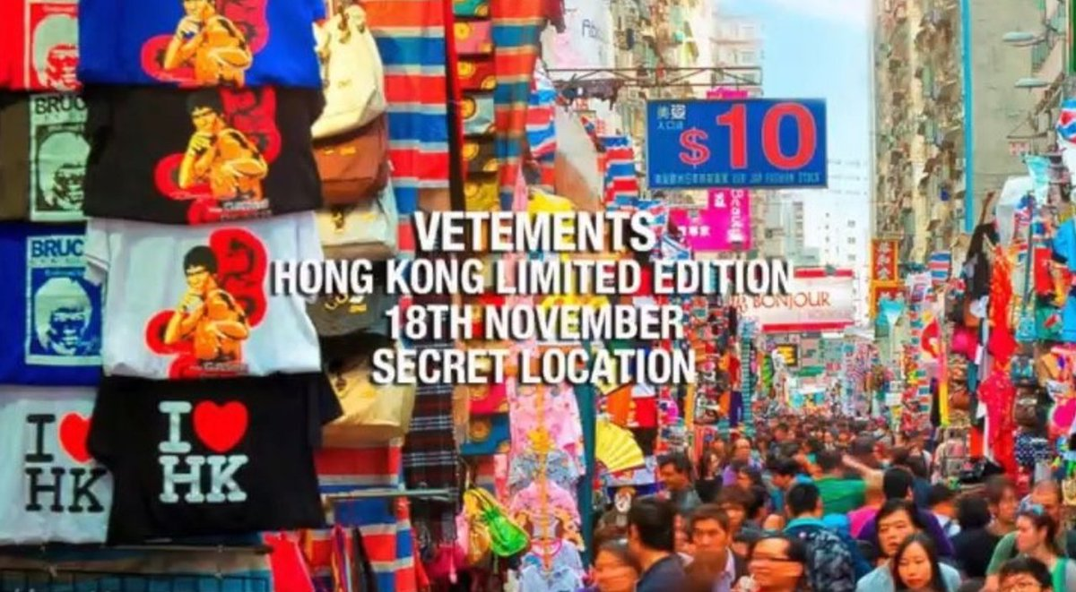 Secret location no more. #Vetements has revealed the location of its #HK capsule collection drop:  http:// ow.ly/rLbS30gDBwt  &nbsp;  <br>http://pic.twitter.com/22XUHwgYCK