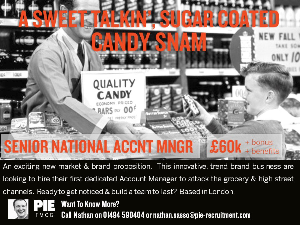 The #Candy SNAM Can  An exciting #sales opportunity with a #confectionery business based in #London! Contact us to find out more &gt;&gt;  http:// bit.ly/2A9kOiY  &nbsp;   #FMCG <br>http://pic.twitter.com/cWasxfZFO6