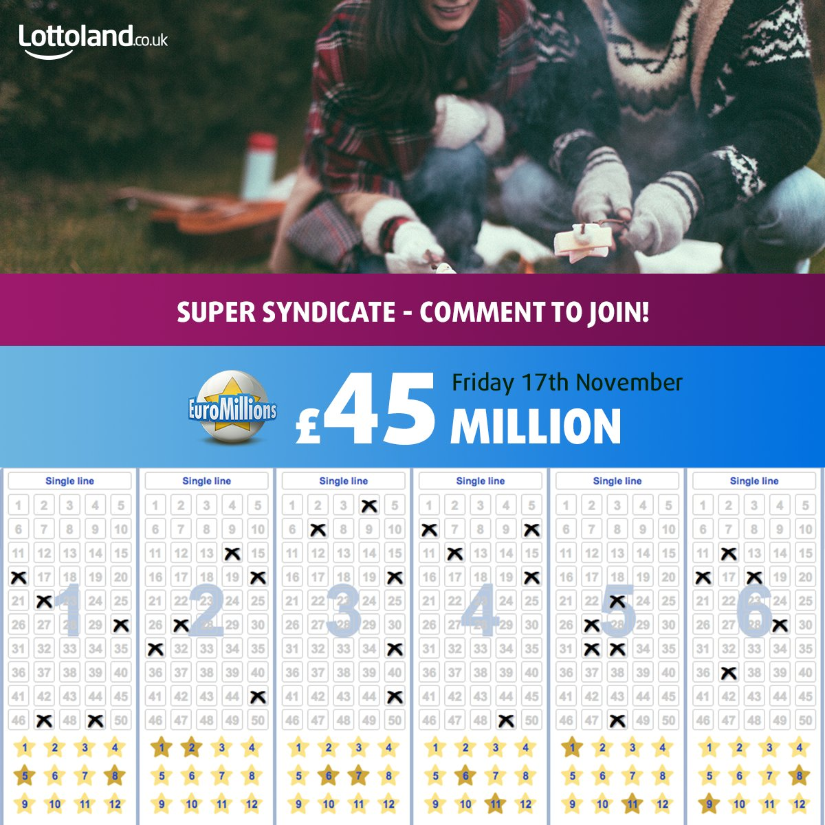 RT to join our #EuroMillions #SuperSyndicate.Split prizes on £10K+ #wins  #TGIF #FridayFeeling #FreebieFriday  Bet now:  https://www. lottoland.co.uk/euromillions?p id=tw_s_ukct&amp;utm_source=tw&amp;utm_medium=osm&amp;utm_campaign=ct &nbsp; … <br>http://pic.twitter.com/WcsHTuTZBF
