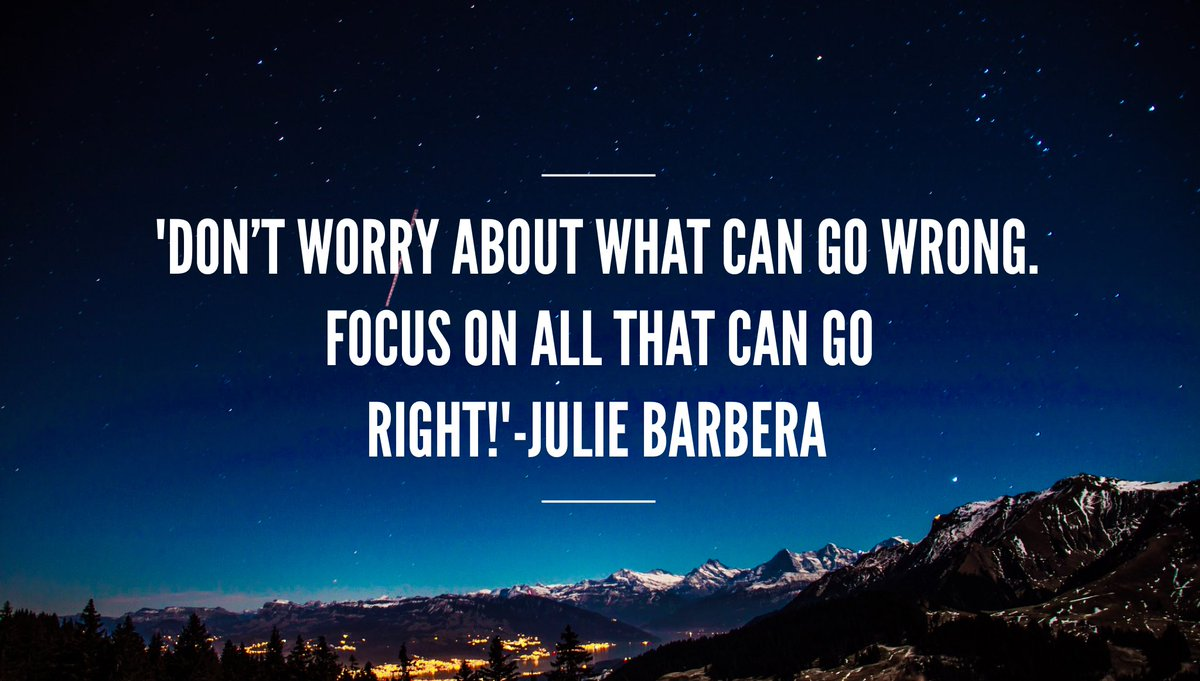 &#39;Turn #negativity into #positivity #DontWorry about what can go wrong. #Focus on all that can go right!&#39; #ThinkBIGSundayWithMarsha #mindset<br>http://pic.twitter.com/5YG91wfcFE