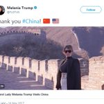 """US first lady #MelaniaTrump posted a video clip on her Twitter on Thursday titled """"Thank you #China! 🇨🇳🇺🇸,"""" showing many memorable moments she and her husband, President #DonaldTrump, had during their Nov 8-10 state visit to China. @FLOTUS https://t.co/Lqoy3SRzvg"""
