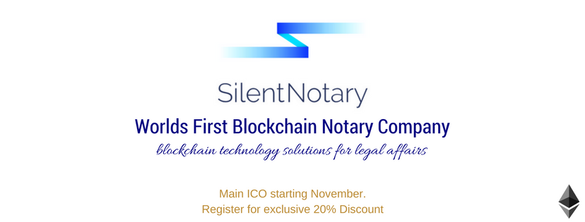 #SilentNotary #ICO #startdate will be #Released very soon. #register to ensure your 20% #exclusive #discount. Be the #first to get the #information. @SilentNotarythe #first #global #blockchain #technology #notary #company.<br>http://pic.twitter.com/26gzTZUwj1