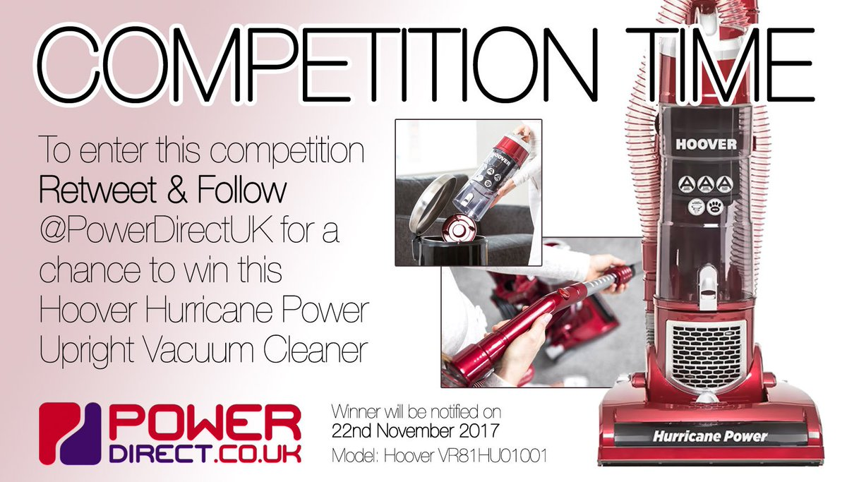 #FreebieFriday! Enter our #Free #Competition #Giveaway for a Chance to #Win a Hoover Upright Vacuum Cleaner. #RT &amp; #Follow @PowerDirectUK<br>http://pic.twitter.com/RUNdUrabVN