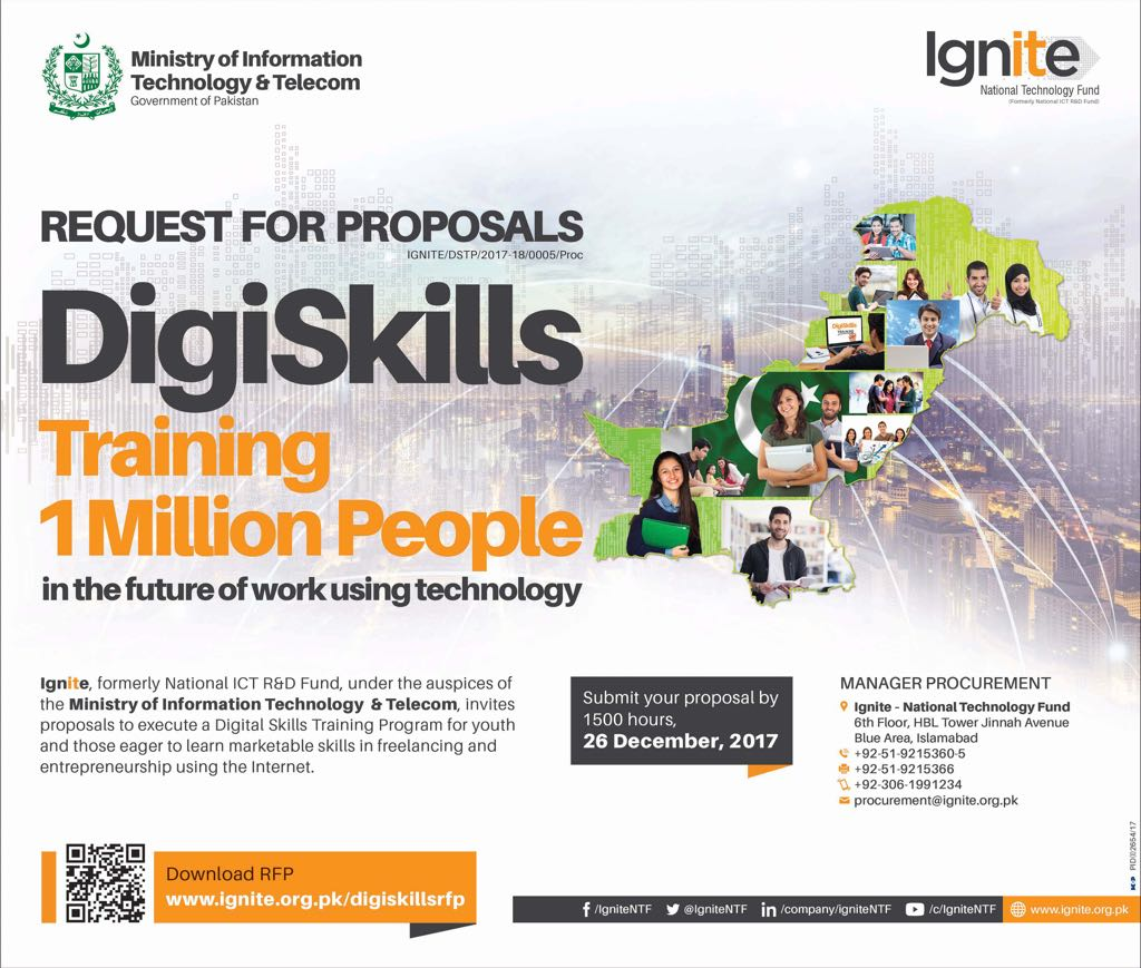 #DigiSkills unleashing the private sector to tackle national challenges in #skills development and #employment generation. Must appreciate the @IgniteNTF Board and IT Minister Anusha Rehman for providing the vision and push to create #exponential impact!<br>http://pic.twitter.com/1A9FsljHI9